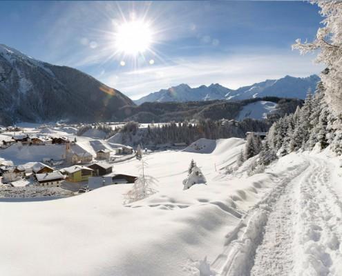Skifahren Wintercamping