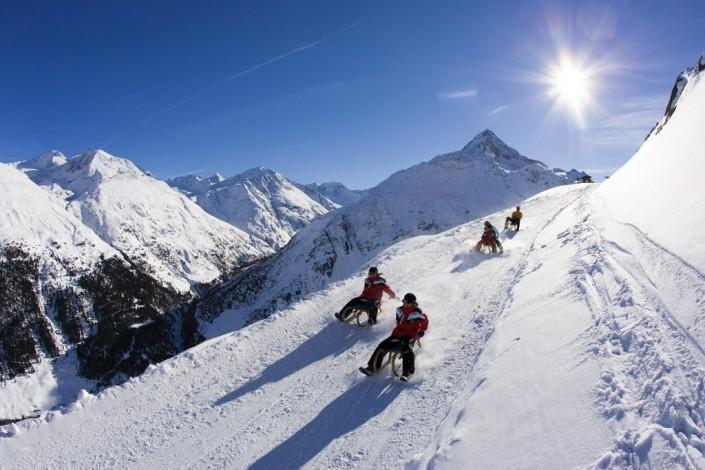 Rodeln Ötztal Tirol