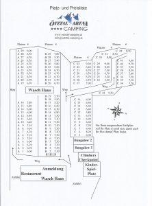 Platzplan Oetztal Camping